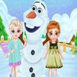 Frozen Sisters Snow Fun
